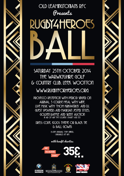 Rugby4Heroes Ball Poster