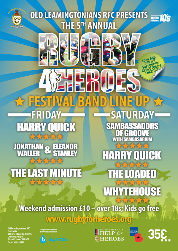 Rugby4Heroes Band Line up