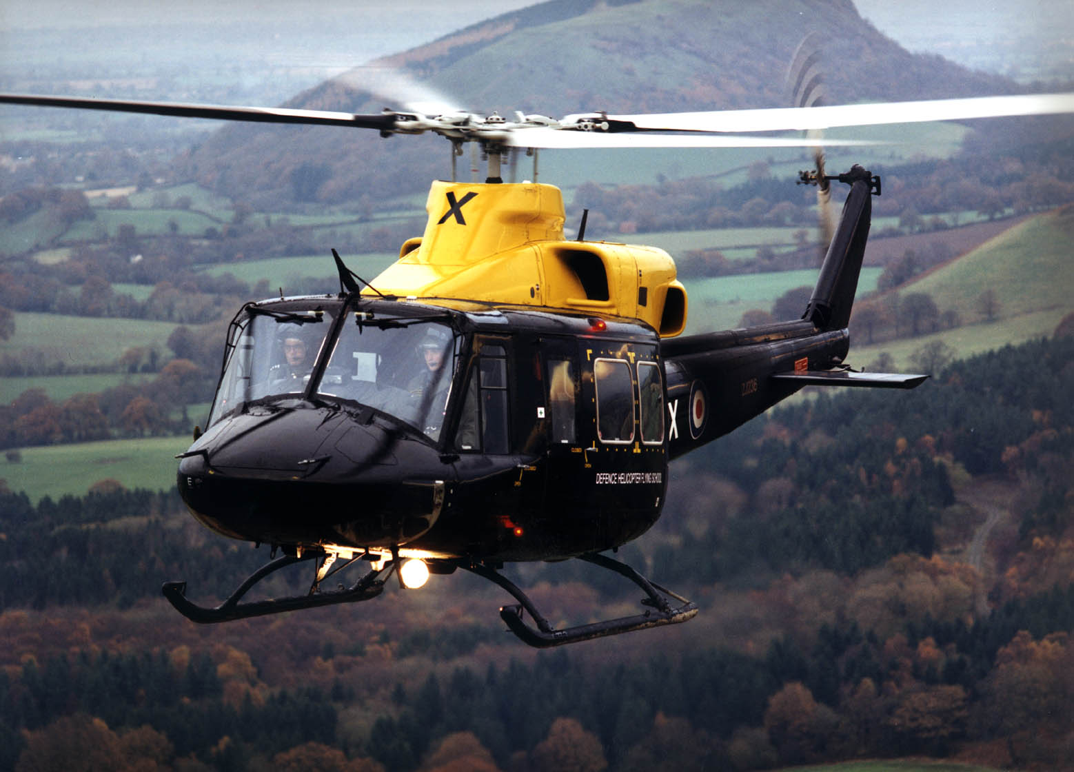 60 Sqn Griffin helicopter from RAF Shawbury.